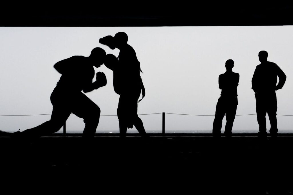 Boxing Training Workout Silhouettes