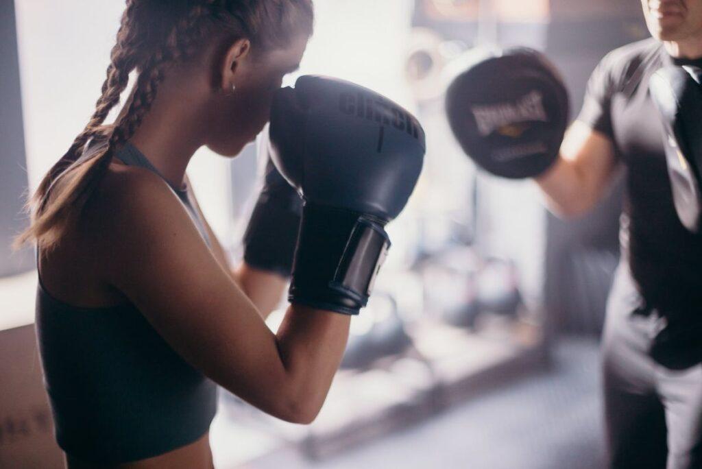 Girl Boxer Sparring