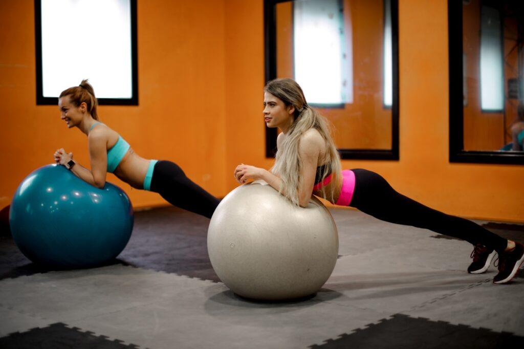 girls stability balls gym
