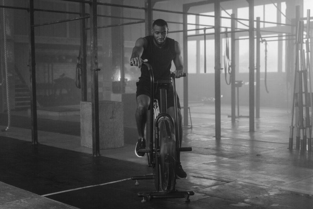 man elliptical bike gym