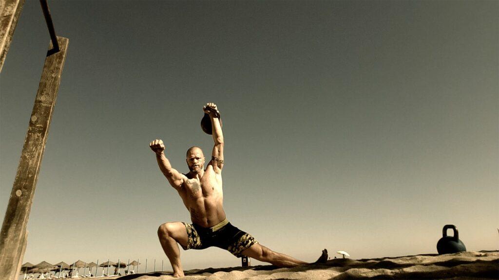 overhead squat, cossack squat, kettlebell training