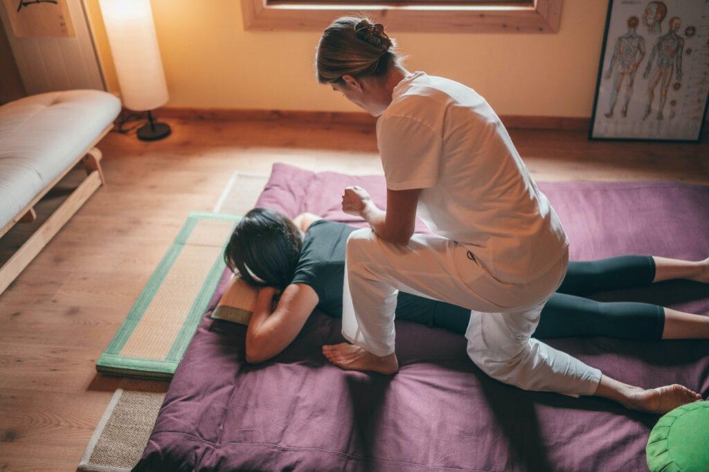women massage